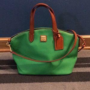 Dooney and Bourke green leather handbag
